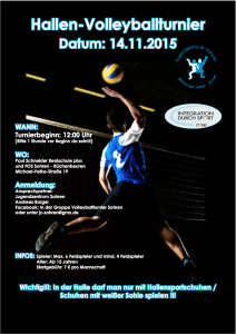 Volleyballturnier_Integration